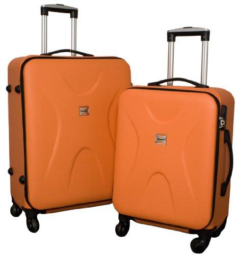 Trolley-Koffer-Set – 2-teilig – ORANGE – Superleicht