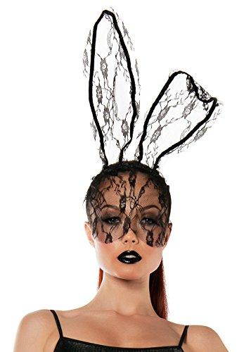 Starline Women's Lace Bunny Mask Headband Accessory, Black, One Size (Black Person Mask compare prices)