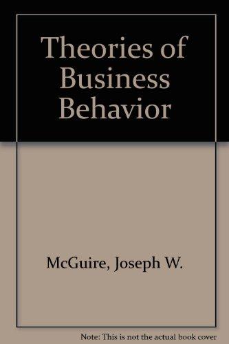 Theories of Business Behavior