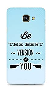 Amez Be the Best version of Yourself Back Cover For Samsung Galaxy A7 2016