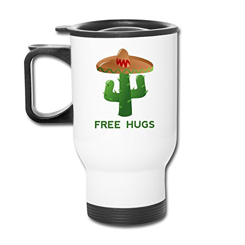 Aip-Yep Intelligent Free Hug Mushrooms And Cacti Eco-Friendly Travel Mugs White (Hotel Transylvania Blu compare prices)