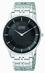 Citizen Men's Eco-Drive Stiletto Stainless Steel Watch #AR3010-57E
