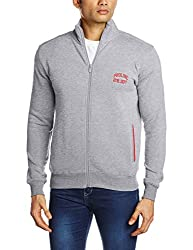Proline Men's Cotton Sweatshirt (8907007203323_PC09911J_Medium_Grey Marl)