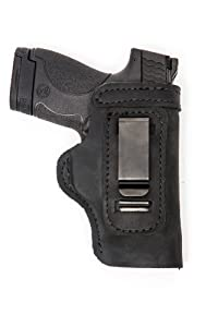 Glock 19 23 32 36 Pro Carry LT CCW IWB Leather Gun Holster New Black