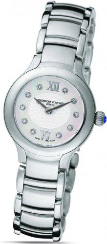 Frederique Constant Geneve Delight FC200WHD1ER6B Reloj elegante para mujeres con diamantes genuinos