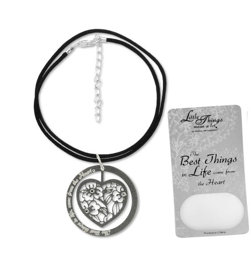 Little Things Mean A Lot the Best Things in Life Necklace, Includes 1-1/2-Inch Silver Plated Circle Pendant