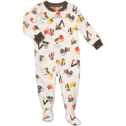 e01822f76 Carter s Boys Construction Fleece Footed Blanket Sleeper Pajamas ...
