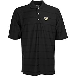 Antigua Mens Washington Huskies Tone Desert Dryantech Anti-Bacterial Tonal Stri by Antigua