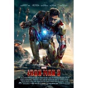 アイアンマン 3 スタジオ純正 オリジナル 米国映画館掲載用 特大 ポスター および フィルムセルブックマーク2点 セット 正規品 並行輸入品