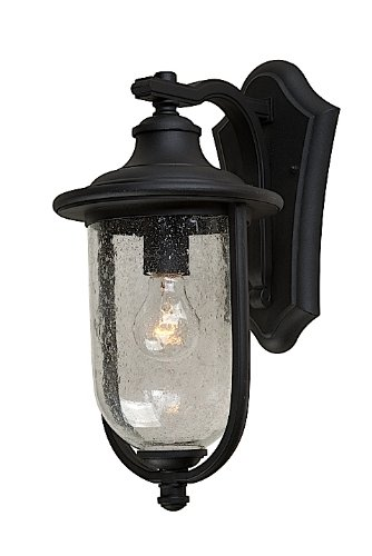 Artcraft Lighting AC8041BK Monterey Bay Outdoor Wall Sconce Light, Black