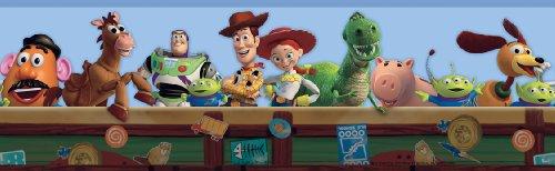 York Wallcoverings Disney Kids DK5800BD Toy Story Border, Blue
