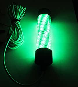 12v led green underwater submersible night for Green fishing lights