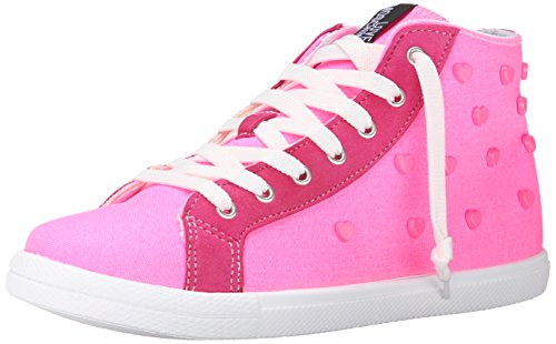 Love Moschino Women's Hearth High Top Fashion Sneaker, Pink, 39 BR/9 M US