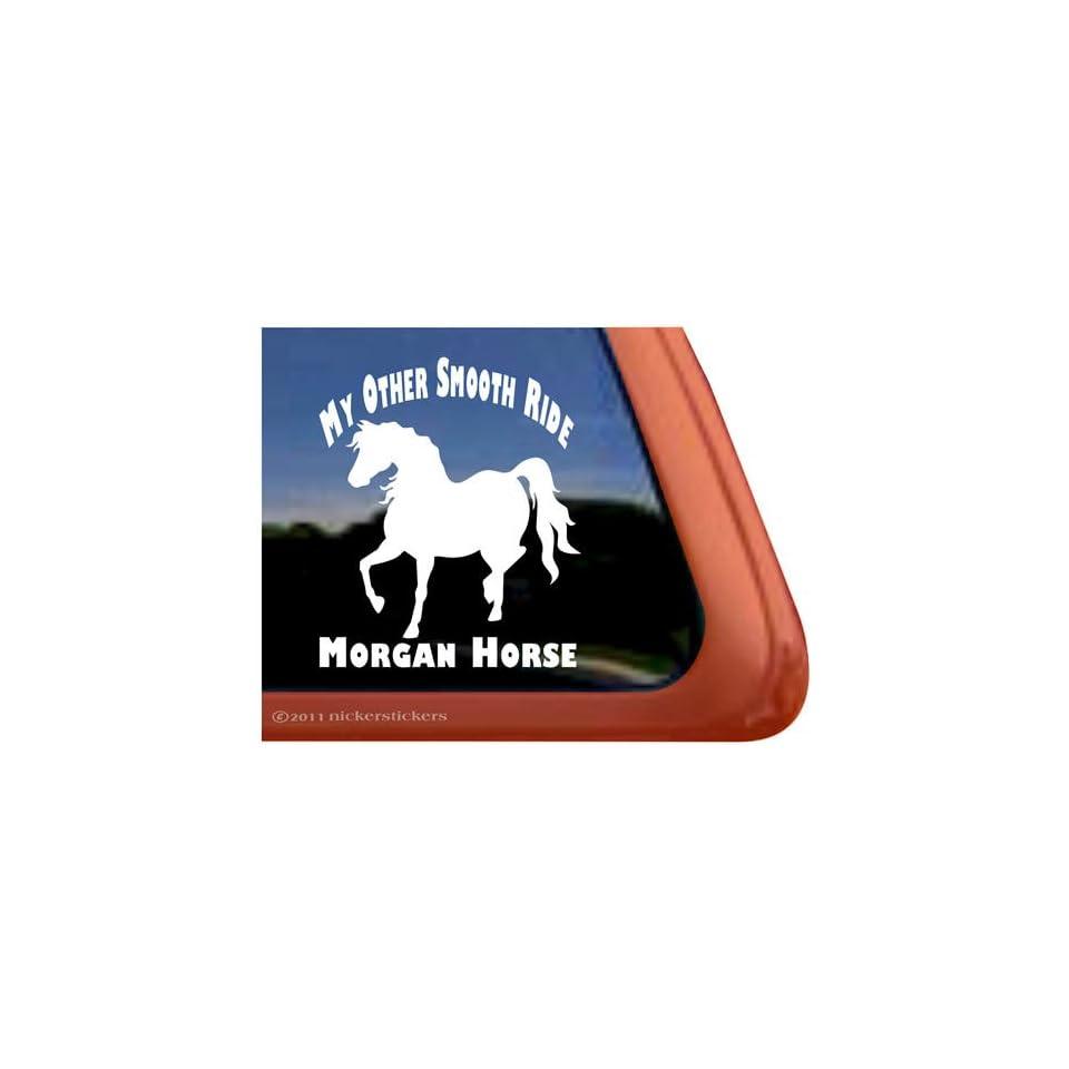 Smooth Ride Morgan Horse Trailer Vinyl Window Decal Sticker