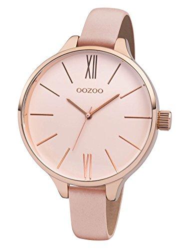 Oozoo-Damenuhr-mit-Lederband-45-MM-RosePinkgrauPinkgrau-C8401