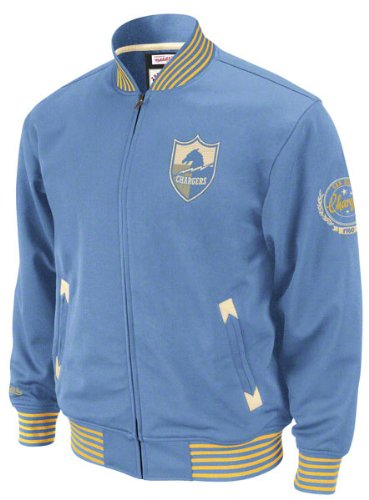 NFL San Diego Chargers Mitchell Ness Champions Track Jacket Throwbacks Mens MED at Amazon.com