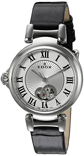 Edox-Womens-85025-3C-ARN-LaPassion-Analog-Display-Swiss-Automatic-Black-Watch