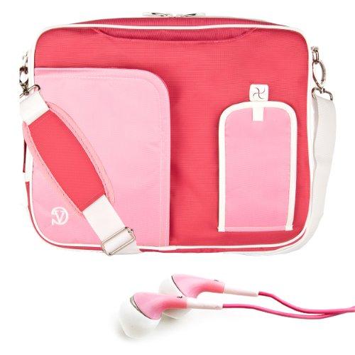 """Pindar Messenger Bag For Nabi Xd 10.1"""" Kids Tablet + Pink Headphones (Pink)"""