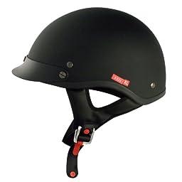 VCAN V531 Cruiser Solid Flat Black X-Large Half Helmet