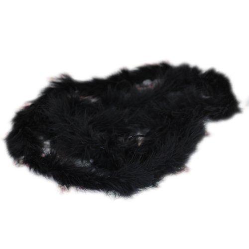 SODIAL(R)6 pieds Boa de Plumes de Marabout pour Diva Nuit Mariage - Noir