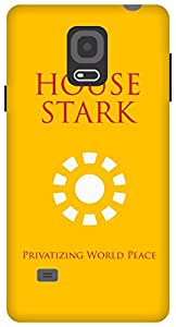 The Racoon Grip Tony Stark Sigil Inverse hard plastic printed back case / cover for Samsung Galaxy Note 4