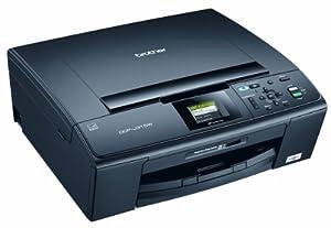 Brother DCPJ315W Multifunktionsgerät (Scanner, Kopierer und Drucker) schwarz