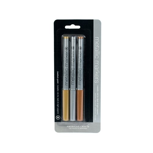 American crafts metallic marker 3 pack medium point gold for American crafts metallic marker