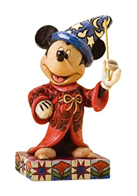Disney Traditions by Jim Shore 4010023 Sorcerer Mickey Mouse Personality Pose Figurine 4-1/4-Inch