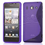 FUNDA GEL TPU MORADA HUAWEI ASCEND G510 / ORANGE DAYTONA MODELO S LINE