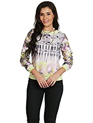 Fashion Fiesta Women's Casual Top (TOPLAM0027GRE05-L_Green_Large)