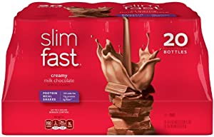 SlimFast Creamy Milk Chocolate Ready To Drink Shakes, 20 Count