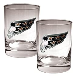 Washington Capitals 2pc Rocks Glass Set - Primary Logo NHL Hockey