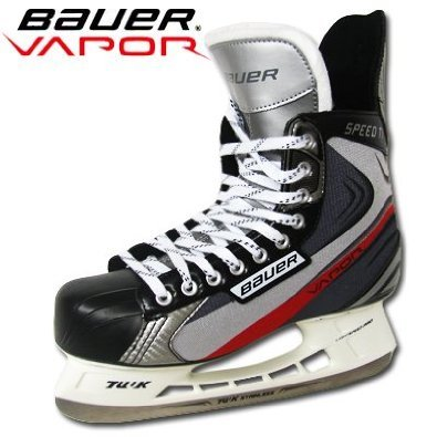 BAUER SPEED TI Ice Hockey Skates New 2012 Edition size uk9.5 + FREE SKATE GUARDS