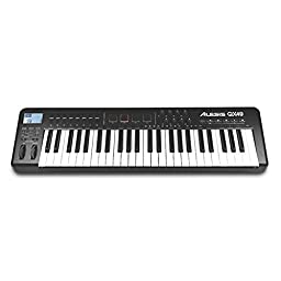 Alesis QX49 49-Key Advanced USB MIDI Keyboard Controller with Trigger Pads and Faders