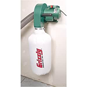 Grizzly G0710 1 Hp Wall Hanging Dust Collector Vacuum