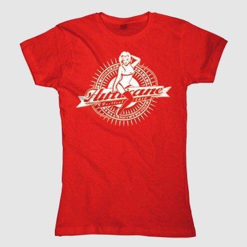 Hurricane Festival 2010 - Pin-up Girlie Shirt rot/red - Gr./Size M