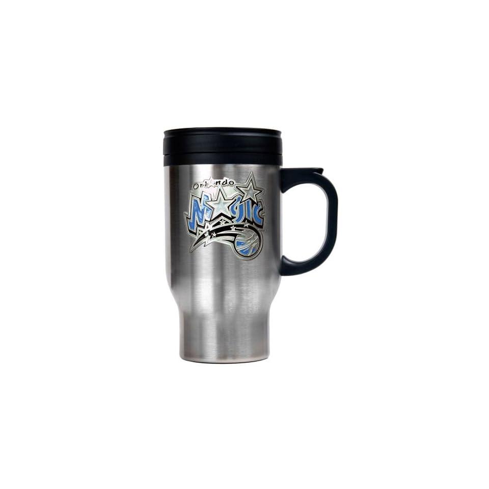 Orlando Magic NBA Stainless Steel Travel Mug   Primary Logo