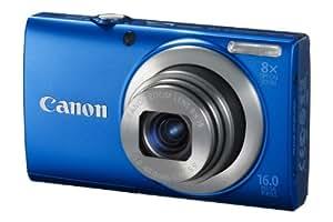 Canon PowerShot A4000 IS Digitalkamera (16 Megapixel, 8-fach opt. Zoom, 7,6 cm (3 Zoll) Display, bildstabilisiert) blau