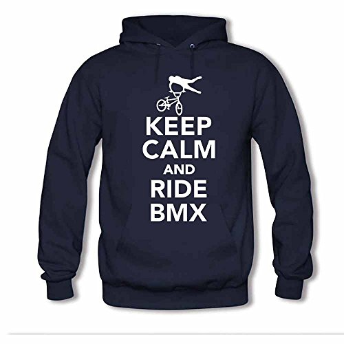 BMX Keep Calm and Ride Women's Pure Cotton Hoodies M