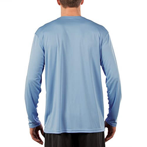 Vapor Apparel Men's UPF Long Sleeve Solar Performance T-Shirt Small Columbia Blue