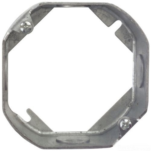 Steel City 55151-1/2-25 4-Inch Diameter 1-1/2-Inch Deep 15.8-Cubic Inch Pre- Galvanized Steel Octagon Box Extension Ring by Thomas & Betts