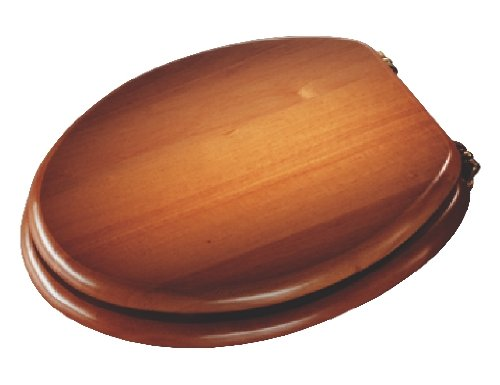 Croydex Solid Wood Toilet Seat, Antique Pine