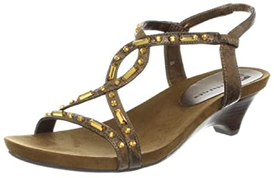 AK Anne Klein Women's Tiyanna Wedge Sandal,Bronze Multi,7.5 M US