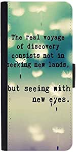 Snoogg Seeing With New Eyes Designer Protective Phone Flip Case Cover For Panasonic P55 Novo