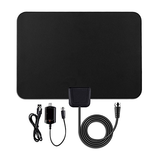 TV Antenna-50 Mile Range with Detachable Amplifier, HDTV Indoor Antenna for High Reception Homeworx Antenna for TV - 10ft Coaxial Cable (Indoor Digital Tv Antenna compare prices)