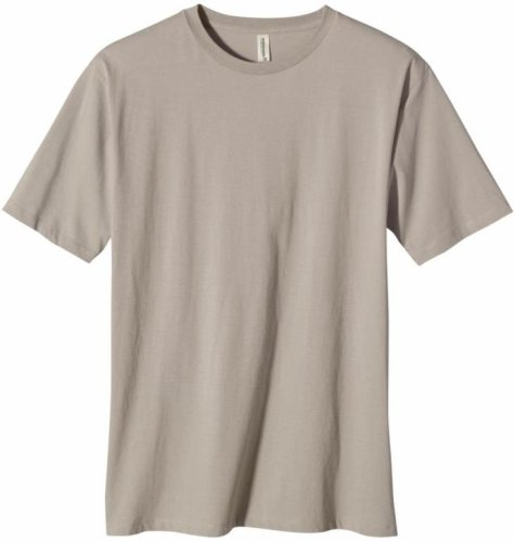 ECOnscious Men's 100% Organic Cotton Short Sleeve Slim Fit Tee (Warm Gray, Medium)