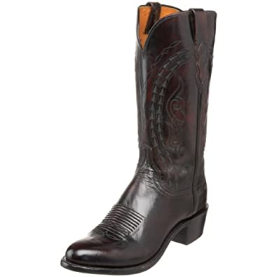 1883 by Lucchese Men's N1618.R4 Western Boot,Blackcherry,7.5 EE US