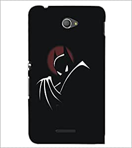 PrintDhaba Batman D-5290 Back Case Cover for SONY XPERIA E4 (Multi-Coloured)