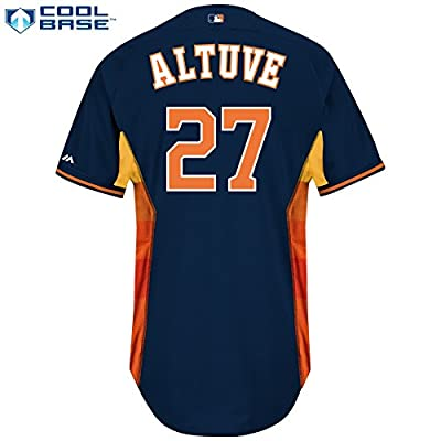 Houston Astros Jose Altuve Majestic Authentic BP Jersey