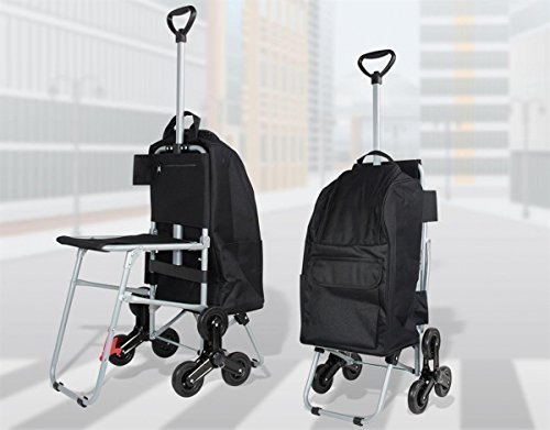 Shopping trolley easy con sedile nero einkaufsroller - Carrello cucina nero ...